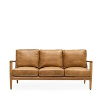 BUCKLE 3 SEATER SOFA - TAN