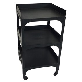 3 TIER IRON SIDE TABLE