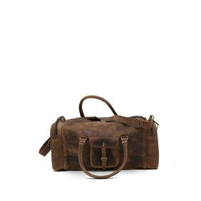 LEATHER OVERNIGHT BAG-FULL GRAIN LEATHER