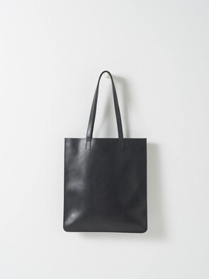CITTA LEATHER TOTE BAG BLACK