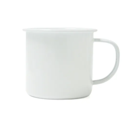 DISHY ENAMEL MUG WHITE 350ML