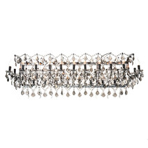 HALO CRYSTAL RECTANGLE CHANDELIER - LARGE