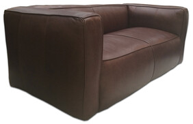 HALO TRIBECA HIGH BACK 2 SEATER - NAPHINA CHOC
