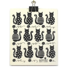 ANNEKO DISH CLOTH - CATS