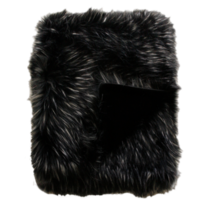 LUXURY FAUX FUR THROW - EBONY PLUME