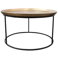 MONROE COFFEE TABLE - ANTIQUE BRASS