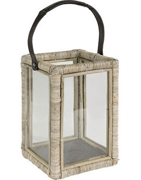 Artwood Single Wicker Lantern