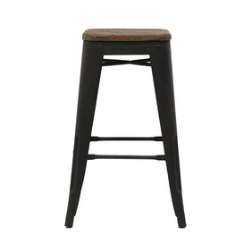 IRON COLONIAL STOOL ELM TOP LARGE