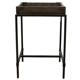 SANTA FE SIDE TABLE - DARK WOOD