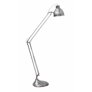 BRUSHED PEWTER STYLE ADJUSTABLE FLOOR LAMP