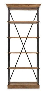 IRON AND PINE 5 TIER BOOK SHELF
