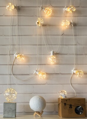 STELLAR HAUS 5M WHITE SPHERE TWINKLE FESTOON LIGHTS