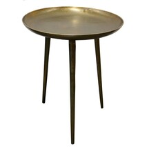 BROOKLYN SIDE TABLE BRASS ANTIQUE