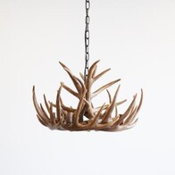 DEER ANTLER CHANDELIER RESIN- 59cm