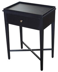 OLLIE BLACK SIDE TABLE