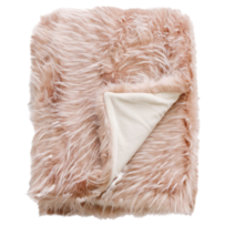 LUXURY FAUX FUR THROW - PEONY PLUME