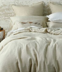 MM LINEN LAUNDERED LINEN DUVET SET NATURAL
