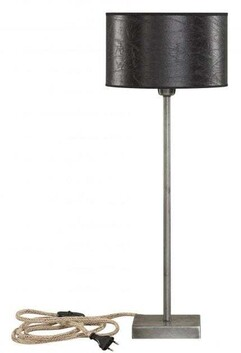 ARTWOOD PEWTER LOW TABLE LAMP BASE