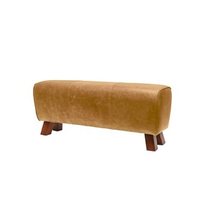 PALMA LEATHER BENCH - CAMEL