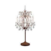 HALO CRYSTAL TABLE LAMP - ANTQUE RUST