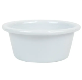 DISHY ENAMEL MINI DIP PLATE 8CM - WHITE