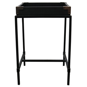 SANTA FE SIDE TABLE - BLACK