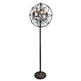 IRON ORB CHANDILER FLOOR LAMP