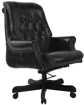 SELBY BANKERS ADJUSTABLE CHAIR - BLACK