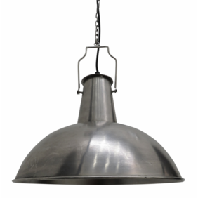 INDUSTRIAL BOILER ROOM PENDANT IN ANTIQUE SILVER STYLE FINISH