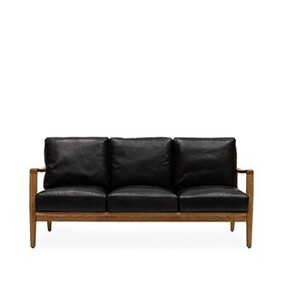 BUCKLE 3 SEATER SOFA - BLACK