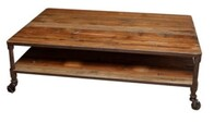 INDUSTRIAL COFFEE TABLE RECLAIMED PINE AND STEEL