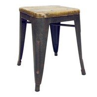 IRON COLONIAL STOOL ELM TOP SMALL