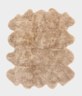 W & D OCTO SHEEPSKIN RUG - MT GOLD