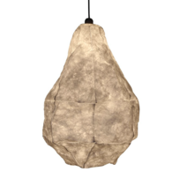 LARGE TEARDROP PARCHMENT HANGING LIGHT