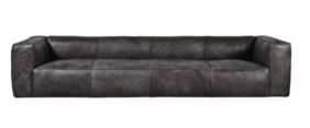 HALO TRIBECA SOFA 4 SEATER - DESTROYED BLACK