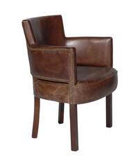 HALO NEWARK DINING CHAIR - BIKER TAN WITH ANTIQUE OAK