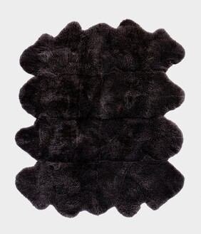 W & D OCTO SHEEPSKIN RUG - BLACK PEAK