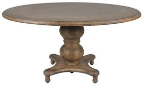 AMERICAN OAK ROUND DINING TABLE
