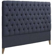 ARTWOOD LONDON HEADBOARD LINEN INDIGO