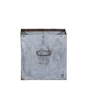 SQUARE IRON PLANTER - LARGE