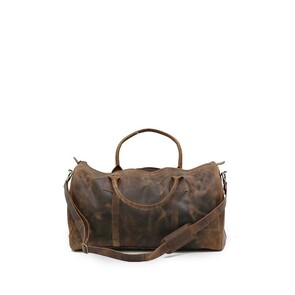 LEATHER DUFFEL BAG-FULL GRAIN LEATHER