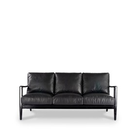 BUCKLE 3 SEATER SOFA BLACK FRAME