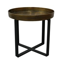 BOSTON BRASS ANTIQUE SIDE TABLE