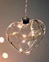 STELLAR HAUS CLEAR HEART HANGING GLASS LIGHT
