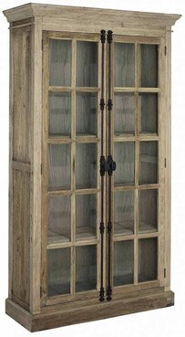 ARTWOOD ELMWOOD  TWO DOOR DISPLAY UNIT - SOLID ELM