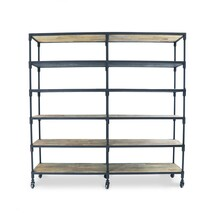 LARGE INDUSTRIAL METAL BOOKSHELF