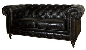 BYRON 2 SEATER SOFA - BLACK