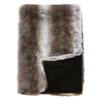 LUXURY FAUX FUR THROW - STRIPED ELK