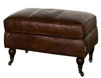 TRADITIONAL RECTANGULAR OTTOMAN - VINTAGE CIGAR
