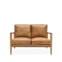 BUCKLE 2 SEATER SOFA - TAN